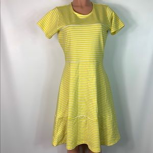 DE COLLECTION fit and flare stripe dress size L